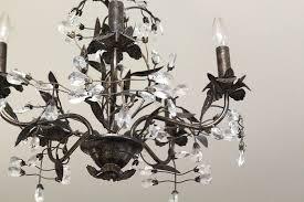 crystal chandelier master bedroom