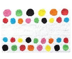 french bull dot bath rug multi colored rugs handcrafted