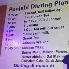 Diet Chart In Punjabi Language Punjabi Diet Super Healthy Recipes Diet Healthy Foods To Eat
