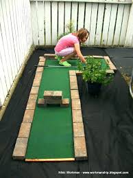 homemade putting green practice diy artificial putting green construction