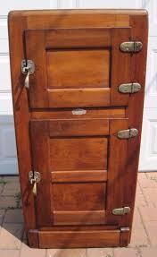 refrigerator box. antique 1910 leonard cleanable porcelain lined maple ice box refrigerator usa