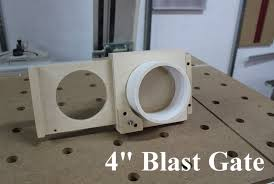 pvc dust collection blast gate self cleaning design with a detent feature