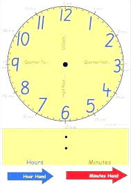 Hour And Minute Hand Template Free Clock Cutout Printable Template