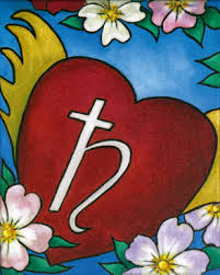 Heart with Saturn sign | Extra
