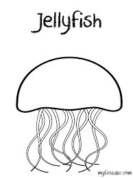 Small Picture Wildlife Jellyfish Coloring Pages Barriee