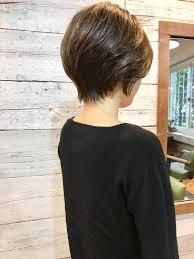 横浜 大倉山 美容室自宅で簡単スタイリングの大人ショートヘア 横浜