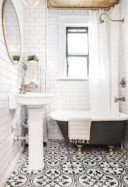 little bathroom small black and white graphic tiles floor trends 2018 apartment style decor interior