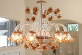 archimede seguso murano glass ten arm chandelier