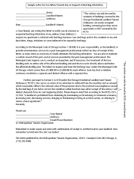 Sample Complaint Letter To Landlord About Roaches A Bedbugs And