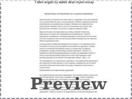 fallen angels by walter dean myers essay essay academic writing  fallen angels by walter dean myers essay