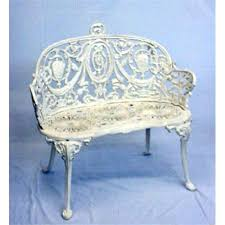 white iron garden furniture. brilliant garden two pieces of cast iron garden furniture old white paint settee with  kidney shape seat medalliu2026 to white iron garden furniture