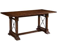 Broyhill Attic Heirloom Dining Table Broyhill Furniture Attic Rustic Counter Height Trestle Table With