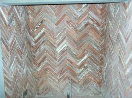 fireplace firebrick panels. antique terra cotta firebrick - herringbone pattern fireplace panels