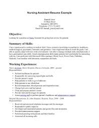 Cna Resume Objective Statement Examples Cna Resume Objectives
