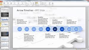 Packen sie die tagesordnungspunkte in die einzelnen ringe und die unterpunkte in den bodenkreis. Powerpoint Arrow Timelines Youtube