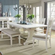harbor view ii trestle extendable dining room set from liberty 631 t4294 coleman furniture