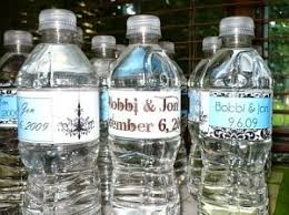 Creative diy personalized water bottle ideas Etched Glass Fresh Coat Of Paint Fresh Coat Of Paint More Wedding Ideas