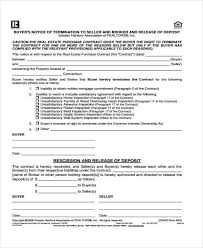 Contract Release Form Unique 48 Real Estate Release Form Samples Free Sample Example Format