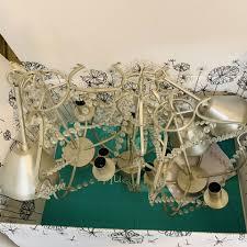 Ikea Kristaller Kronleuchter 3 Armig Silber Glas 3 Stück