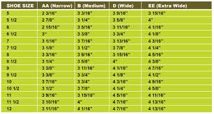 Boot Wide Size Chart Customfit