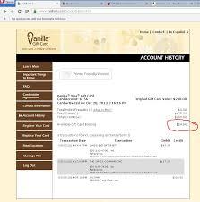 vanilla visa gift card balance check photo 1