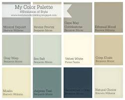 Benjamin Moore Paint Colors Chart Whole House Color Palette