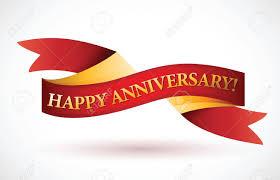 Anniversary Ribbon Happy Anniversary Red Waving Ribbon Banner Illustration Design