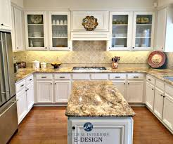 kitchen with maple cabinets and wood floor painted benjamin moore white down kylie m interiors