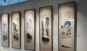 the ink wash paintings depict scenery from across china photo cna