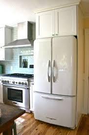 white fridge in kitchen. refrigerator - elmira stoveworks retro look in high gloss white, french doors \u0026 bottom freezer white fridge kitchen h
