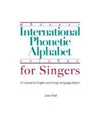 Ipa Chart For Singers International Phonetic Alphabet For Singers
