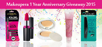 makeupera 1 year iversary giveaway 4 winners