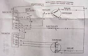 window ac air conditioner maintenance diagnostic chart american sample schematic windowacschematic jpg 105087 bytes capacitor info