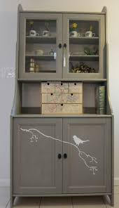 Small Kitchens,Luxury Ikea Kitchen Buffet Ideas In Nifty Grey Color Scheme  And Simple Design,Impressive Small Kitchen Hutch Design Inspiration