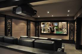 decor home cinema home theater contemporary with black leather armchairs black leat