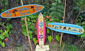 decorative surfboard wooden surfboards australia fins with shark bite