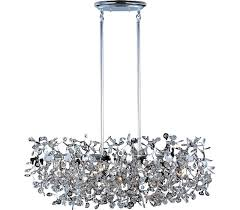 maxim 24206bcpc comet crystal chandelier light 7 light 280 watts halogen polished chrome