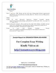 sample report on organizational behavior by expert writers of instan  22