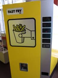 Just Fries Vending Machine Delectable Actual Fry Vending Machine From The 48s Picture Of Friet Museum