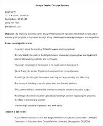 Teacher Resume Objective Beauteous English Teacher Resume Sample Objective Teacher Resume Sample Free