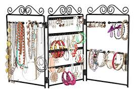 3 Panel Display Stand Gorgeous Amazon Finnhomy 32Panel Folding Screen Jewelry Display Stand
