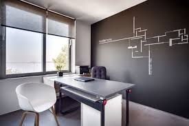 Small office architecture Flexible View In Gallery Second Office Space Inside The Smart Greek Studio Decoist Small Architectural Office With View Of The Ionian Sea