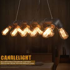 island pendant lighting fixtures. Beautiful Winsoon Retro Steampunk Lamp Iron Pipe Island Pendant Ceiling Light Fixtures Fan For How Archived Lighting