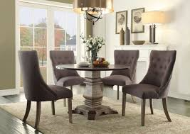 dining tables round dining table sets round kitchen table sets for 6 black finished of