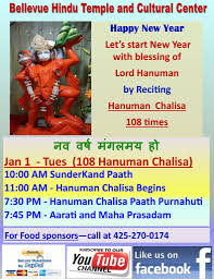 New Year Celebrations (with 108 Hanuman Chalisa)