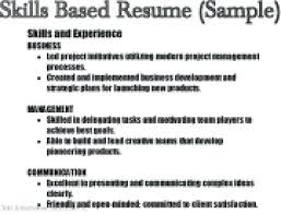 Example Of Resume Skills Resume Bank