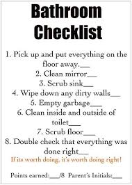 Bathroom Chart For Kids To Put In The Cabint Of The Kids Bathroom In A Frame And