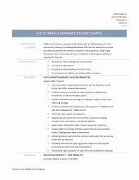 Auto Finance Manager Resume Resume Builders New Prepossessing Resume Finance Manager Sample For 8