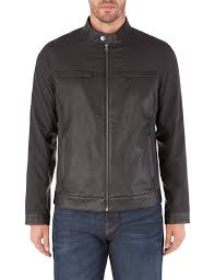 jeff banks black biker jacket