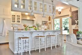 Innovative rattan bar stools in Kitchen Farmhouse with Above ...